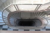 View from above to circular stairs leading downwards — Stock Photo