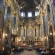 Inside of Jesuit Church in Lvov — Stock Photo