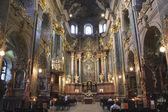 Inside of Jesuit Church in Lvov — Stock Photo