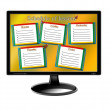 Schedule of lessons for a week on the monitor — Stockfoto