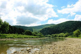 Beautiful mountainous landscape with river — Stock Photo
