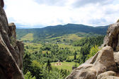 View to Carpathian mountains — Stock Photo