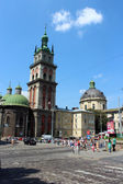 The Dominican church and monastery in Lviv — Stock Photo