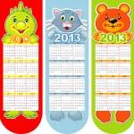 Vector bookmarks-calendar on a 2013 year — Stock Vector #12254507