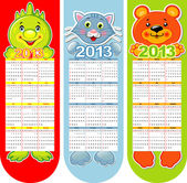 Vector bookmarks-calendar on a 2013 year — Stock Vector