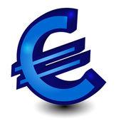 Blue euro symbol — Stock Vector