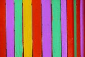 Barevný dřevěný plot — Stock fotografie