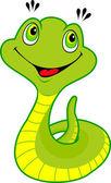 Cute cartoon snake — Stock Vector