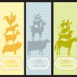 Royalty-Free Stock Vector Image: Bookmarks with pet animal silhouettes