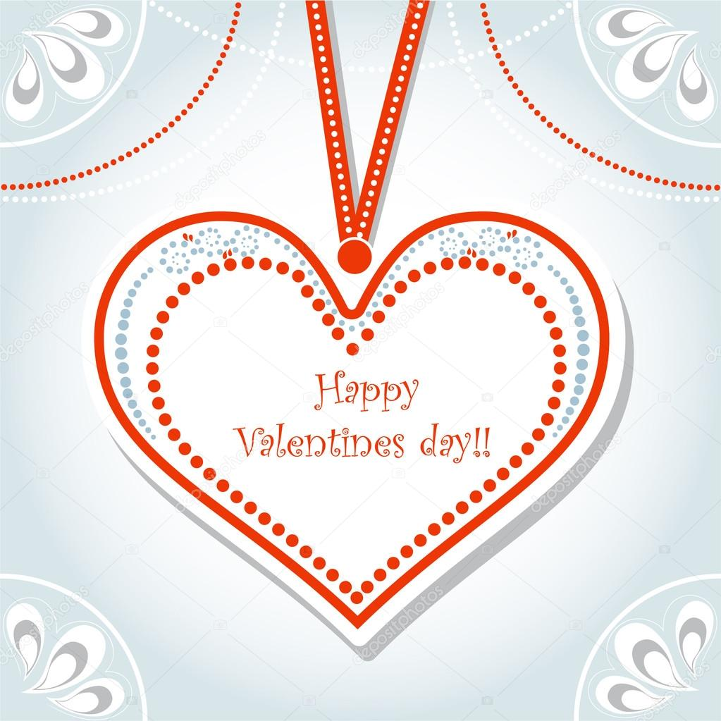 Valentine's day greeting card: vector illustration  Stock Vector #19700217