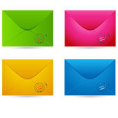 Set of colored envelopes — Stock Vector