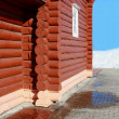 Part of the wooden house. — Stock Photo