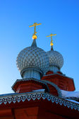 Два купола церкви — Стоковое фото