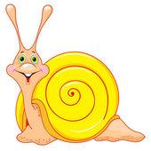 Cute cartoon snail — Stock Vector