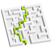 3D labyrinth — Stock Vector