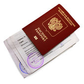 Passport of the citizen of the Russian Federation with nested medical references donor — Stock Photo