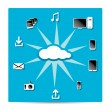 Cloud Computing concept background — Stock Vector