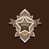 Vector vintage star label retro style — Stock Vector