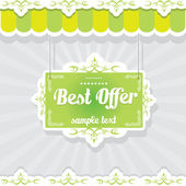 Vintage green vector background — Vector de stock