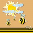 Vector bee icon. vector illustration. — Stock Vector