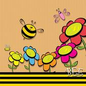 Vector bee icon. vector illustration. — Stock Vector