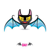 Vector funny devil bat with wings. — Stock Vector