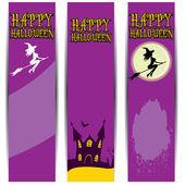 Vector banner halloween design template — Stock Vector