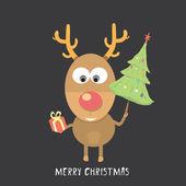 Vektorové vánoční sob — Stock vektor