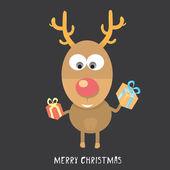 Vector Christmas reindeer — Stock Vector