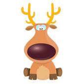 矢量卡通圣诞驯鹿人物. — 图库矢量图片