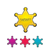Vector color sheriff star isolated on white — Vecteur