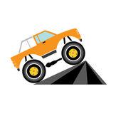 Vector Cartoon Monster Truck — Stock Vector