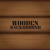 Fond en bois de vecteur pour la conception. — Vector de stock