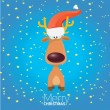Vector cartoon Christmas reindeer character. — Imagen vectorial