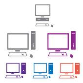 Vector computer icon set — Stock Vector