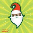 Christmas hipster poster for party or card. — Image vectorielle