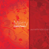 Vector xmas or happy new year card — Stock Vector