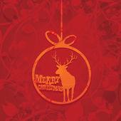 Wektor xmas lub karty szczęśliwego nowego roku — Wektor stockowy
