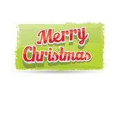 Green Christmas Greeting grunge shape banner — Stock Vector