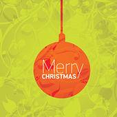 Vector xmas or happy new year card — Stock Vector