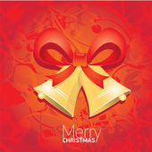 Vector Jingle bells with red bow. christmas card — Stock Photo