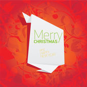 Vector christmas red floral background — 图库矢量图片