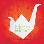 Vector christmas red floral background — Vector de stock