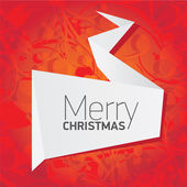 Vector christmas red floral background — Wektor stockowy