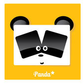 Vector cartoon Panda bear character — Stock Vector