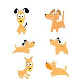 Sevimli köpekleri saldı. vektör toplama Puppies — Stok Vektör