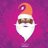 Christmas hipster poster for party or card. — Stockvektor