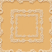 Decorative frame on retro brown wall. — Wektor stockowy