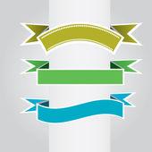 Colección de cintas vintage. ilustración vectorial — Vector de stock