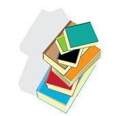 Stack of books. vector illustration. — 图库矢量图片